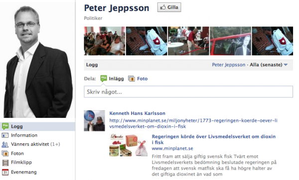 Peter Jeppssons facebooksida