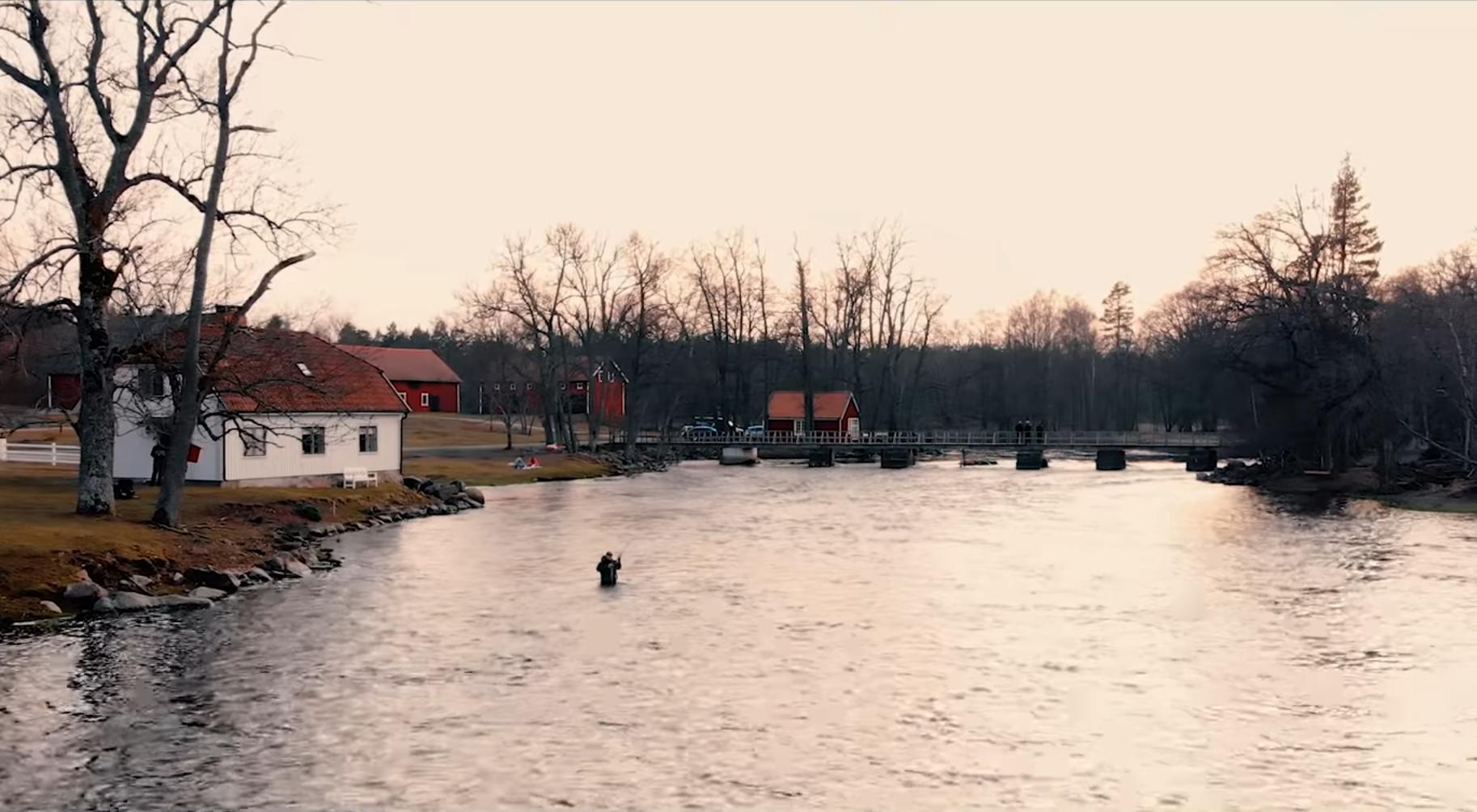 Fin film från vårfisket i Emån